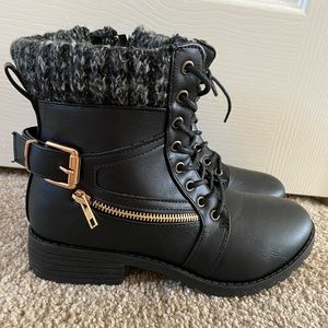 Charlotte Russe Black Sweater Boots